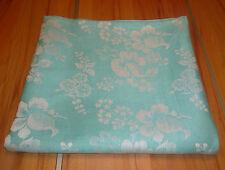 100% LEINEN Tischdecke Wendetischdecke Stickerei grün weiß floral 150x142cm neu
