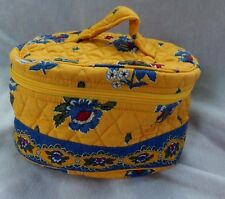 VERA BRADLEY TRAVEL COSMETIC FRENCH YELLOW RETIRED RARE EXCELLENT CONDITION