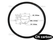 27.5 inch carbon Mountain bicycle rim 30mm widthx 25mm Clincher Tubeless 370g