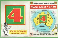 #T56. 4 SQUARE GROCERY STORE ROAD SAFETY GAME BOARD
