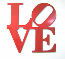 """Large 14"""" Red Metal Love Sign - Wall Decor Philly Love Park Sign Valentine's Day"""