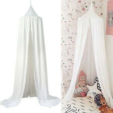 White Bed Canopy Netting Bedding Net Baby Kids Reading Play Tents 240cm Cotton