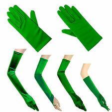 Children's Stretch Satin Gloves Wrist Elbow Opera Long Party Fancy Costume Kids