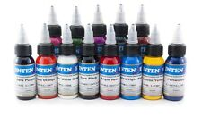 Intenze Ink Profi Tattoofarben Set 12x 30 ml Tattoo Farben Set Tätowierfarben