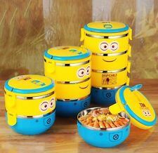 Lunch Box Bag Food Container Storage Picnic Travel Bento Kids Children Minions