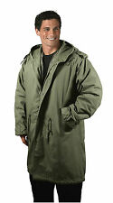 Black/OD M-51 Fishtail Parkas - Military Jacket Winter Coat 1951 Army Type Issue