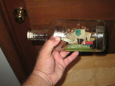 HAND MADE SHIP IN A BOTTLE MEASURES 9 INCHES LONG LOOK!!!!!