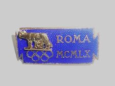 1960 Olympic Games Rome Official Pin_Badge LARGE VERSION Old/Nice/Very Rare No3