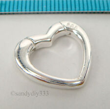 1x STERLING SILVER HEART LOBSTER ENHANCER SHORTENER CONNECTOR CLASP 17mm #2197