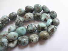 8-12mm Natural Larimar Nugget Semi Precious Gemstone Beads, Half Strand