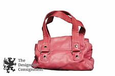 Marc by Marc Jacobs Cranberry Pink 100% Cow Leather Purse Bag Satchel