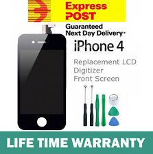 For iPhone 4 Replacement LCD Digitizer Front Screen Assembly Panel + Tools Black