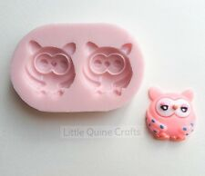 Owl Bird Woodland Animal Silicone Mold Mould Food Grade Fondant Clay Sugarcraft