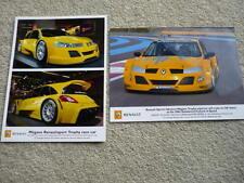 RENAULT RENAULTSPORT MEGANE TROPY PRESS PHOTOS x 2 Brochure related jm