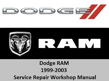Dodge RAM 1999-2003 Service Repair Workshop Manual 1500 2500 3500   CD