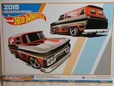 2015 Collectors Edition Hot Wheels 8 1/2 x 11 Poster Red/Black '64 GMC Panel