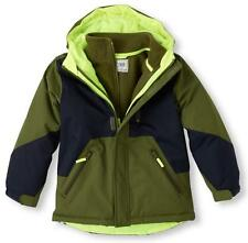 Boys 3 in 1 CHILDREN'S PLACE Winter Coat Jacket Size Med 7/8 Olive Navy Blue NWT