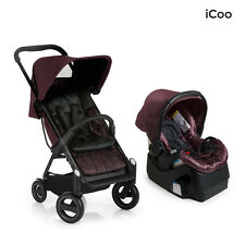 I'coo Acrobat and IGuard35 Travel System in Fishbone Bordeaux New! Open Box Icoo