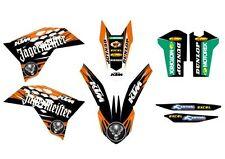 KTM GRAFICHE STICKERS JAGERMEISTER EXC 08/11 SX 07/10 CRYSTAL VARI ANNI MODELLI
