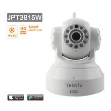 Tenvis JPT3815W Caméra Ip HD Wifi surveillance motorisé Haute Définition Blanc