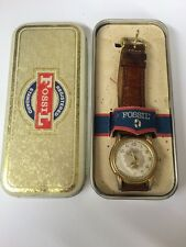 Vintage Fossil Watch in a Tin Box - Works