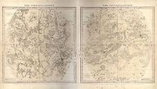 MAP SPACE ASTRONOMY BURRITT 1856 SUMMER CONSTELLATION REPRO POSTER PRINT PAM1209