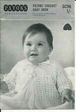 ORIGINAL VINTAGE Patons CROCHET PATTERN book booklet BABY MATINEE COATS & SHAWL