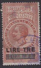 Ricavi ITALIANO: 1930 passaporto autenticazione 3L su 2L bft20 USATO