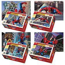 Trefl mini 4 x 54 pieces enfants garçons marvel spiderman flying jigsaw puzzle neuf
