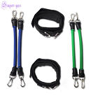 Set of 4 Leg Thigh Fitness Exercise Latex Tube Resistance Band Ankle Straps New