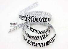New hot 5YDS 3/8' Printed Zebra White Grosgrain Ribbon Hair bow DIY Craft