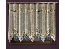 Beautiful jacquard net curtains yarn polished slightly in the color of old gold