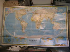 THE WORLD HUGE MAP + ENDANGERED EARTH National Geographic December 1988