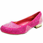 New women's shoe ballet flat ballerina fashion rhinestones party wedding fuchsia
