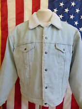 LEVI'S CO.SAN FRANCISCO AUTHENTIC DENIM SHERPA JACKET  XL VINTAGE MADE IN USA