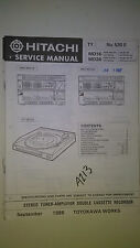 Hitachi hrd-md16 md26 ht service manual original repair book stereo amp