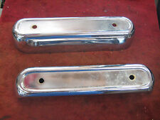 NOS 1960 Ford Fairlane Galaxie Custom Rear Bumper Guards Pair LH & RH