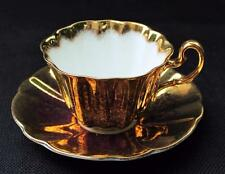 Vintage ROYAL ADDERLEY Bone China GOLD on GOLD Pattern Set Cup & Saucer