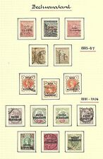 1885 - 1904 Queen Victoria old album page collection BECHUANALAND CV £80