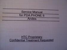 HTC Manual De Servicio Reparación para PDA teléfonos II 2001-2005 77 páginas
