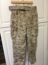 USMC Marine Corps Desert MARPAT MCCUU Digital Camo Pants Trousers Medium Short