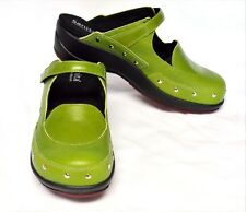 Sanita Wave Sidsel Buffalo Leather Clog Shoes 5.5-6/36 Green Cute Sassy Comfy