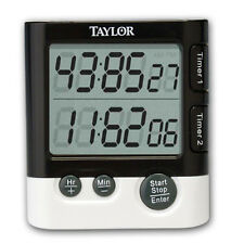 Taylor Precision Kitchen Dual Timer Digital Minute-Second