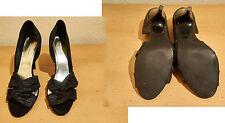 Damenschuhe,Pumps,H&M,Gr. 38,mehrfarbig,vorn offen,10 cm hoher Pfennigabsatz