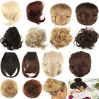 Womens Wave Curly Drawstring Clip In Hair Bun Piece Updo Cover Hair Extension