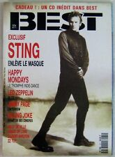 Revue BEST Février 1991 Sting Led Zeppelin Killing Joke