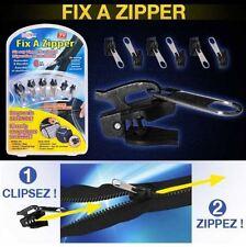 3 X Fix à Zipper vu à la TV Kit de 6 zippers réparation fermeture éclair Marron