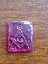 FREE MASON LOOSE PINK GLASS FOR JEWELRY SETTING 11.80 MM X 9.80 MM