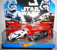 Hot Wheels Star Wars Character Car 2-Pack StormTrooper vs. Captain Phasma NIB