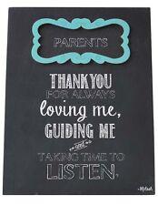 Los padres Cartel Placa mamá y papá gracias por amarme tener tiempo para escuchar